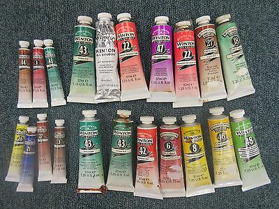 Clearance Bundle of 24 New Winton Artists Oil Paint Tubes 37ml Winsor & Newton