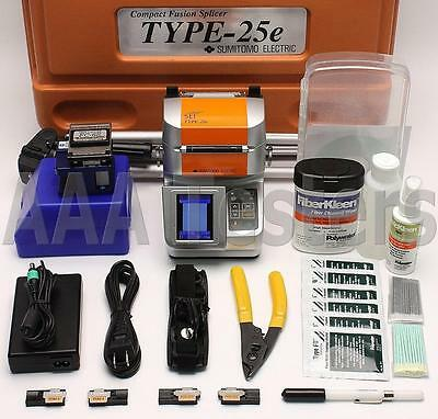 Sumitomo Type-25eM SM MM Ribbon Fiber Fusion Splicer w/ FC-6S Cleaver Type-25