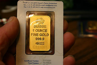 Pure Gold Pamp Swisse Bar, 1 Oz, Sealed In Assay Tep