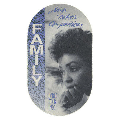 Anita Baker authentic Family 1990 tour Backstage Pass