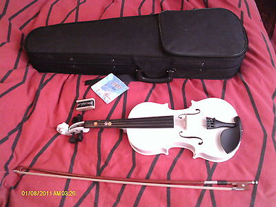 VIOLIN & CASE  3/4 WHITE Mr WU JJAN