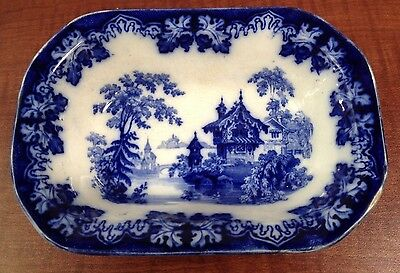 Flow Blue Kaolin Ware SMALL BOWL DISH Dimmock Rhine c 1844 German Architecture