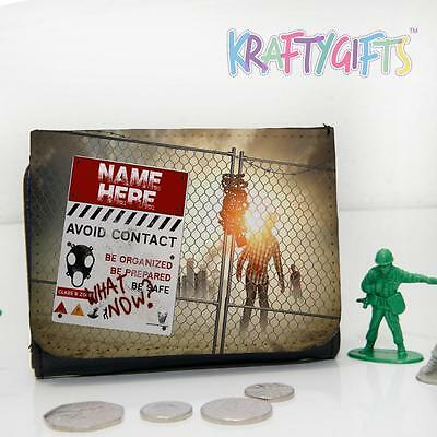 Personalised Walking Dead Zombie Boys Childrens Lunch Wallet Money Gift ST395