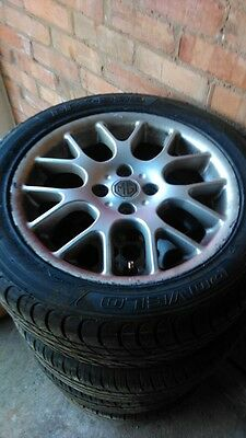 MG ZR alloy wheels with new tyres 205 50 16