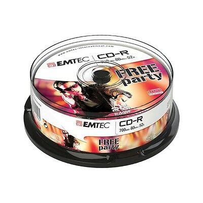 Pack de 25 CD-R 700MB/80min 52x Speed EMTEC