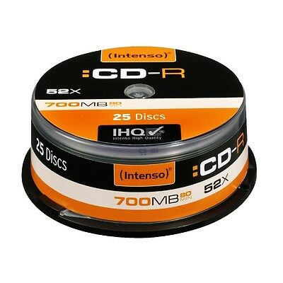 Pack de 25 CD-R 700MB/80min 52x Speed Intenso