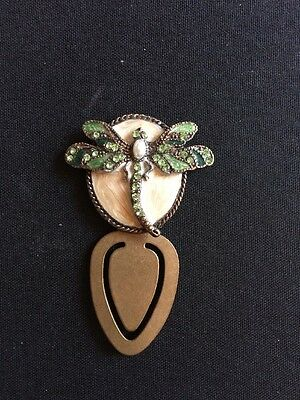 Dragonfly Bookmark With Enamel And Crystals