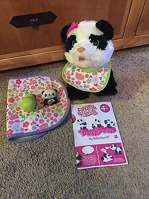 Fur Real Pom Pom Panda Bear With All Accessories