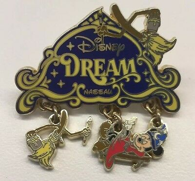 Disney Pin Disney Cruise Line Disney Dream Nassau Sorcerer Mickey With Ship Pin