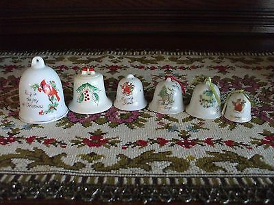 Vintage Christmas Tree Ornaments Ceramic Bell Handpainted Japan Cardinal Bird