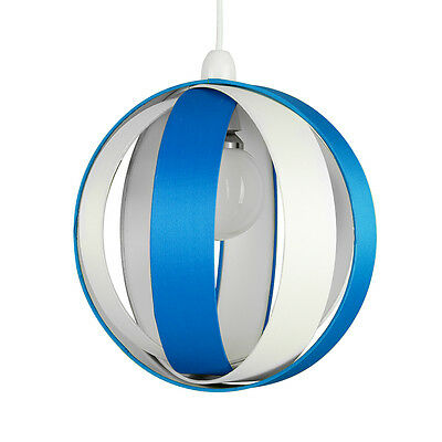 Modern Round Cream & Blue Layered Ceiling Pendant Light Lamp Shade Lampshade NEW