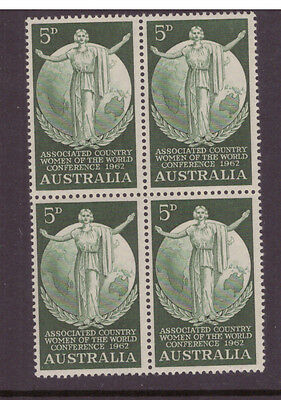 Australia 1962 Women of the World Conference  SG344 block of 4 mint stamps
