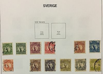 Sverige Sweden 1911/19 Lot Of 12 Used For Description Look At The Picture Rare