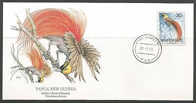1993 Goldie's Bird Of Paradise Fdc The National Audubon Society