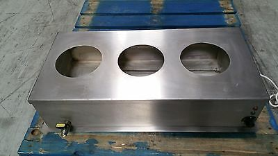 Stainless Steel Bain Marie and Food  Warmer with Tap. 3 Eyes. London NW10