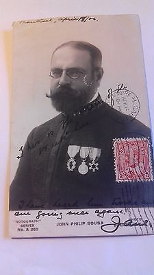 rp card,john philip sousa,marked1906,composers,music