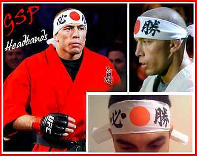 2 OFFICIAL GSP HEADBANDS - Georges St-Pierre - not tickets - GSP HEADBAND - UFC