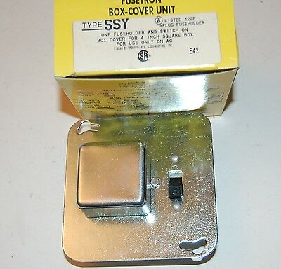 "FUSETRON BUSS SSY BOX COVER UNIT FUSE SWITCH FOR 4"" electric box.(free shipping)"