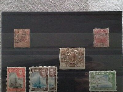 Bermuda - Small Selection of Mint and Used Stamps Issued Between 1902 and 1938