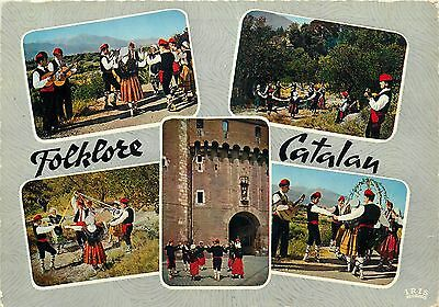 Folklore Catalan dances and costumes multi view