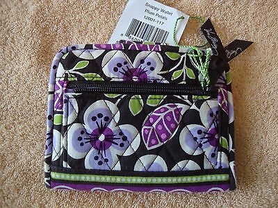 "Vera Bradley Snappy Wallet id holder CC slots zippers 5.5"" X 4"" magnet snap"