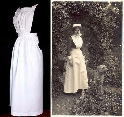 "ANTIQUE WW1 NURSE APRON ? FROM FRANCE OR NANNY  26""+ waist"