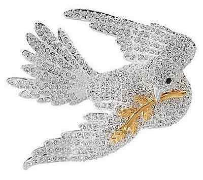 Joan Rivers Pave' Dove of Peace Pin - BRAND NEW - FAST SHIPPING