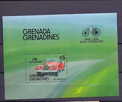 Autos Oldtimer Block Grenada Grenadines 1986   ** 19