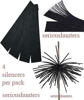 4 Rubber String Silencers Whiskers Dampeners For Compound Recurve Bow