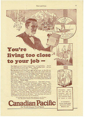 Vintage, Original, 1927 - Canadian Pacific Railway Advertisement - Train, Canada