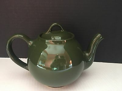 Vintage Lipton's Tea Green Teapot with lid Ceramic Rare ***Fast Shipping***