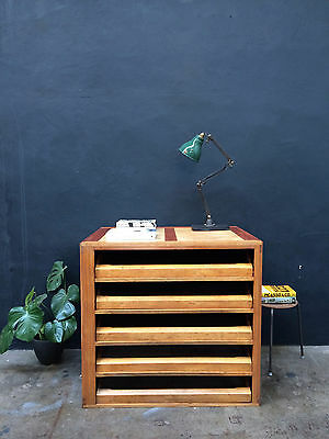 Vintage 50s A1 Plan Chest Drawers.Map.Retro.Industrial Shop Fit Haberdashery