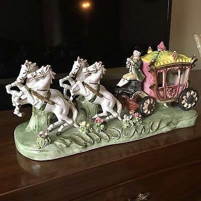 Porcellain Carriage And Horses