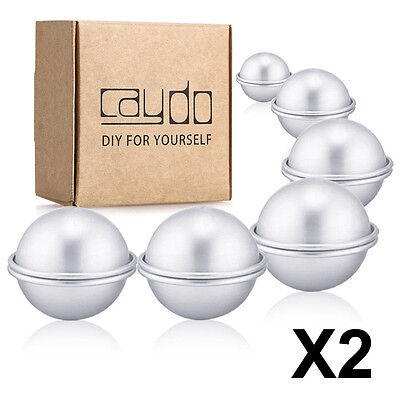 12 Set DIY Metal Bath Bomb Mold 3 Sizes 24 PCS for Crafting Your Own Fizzle
