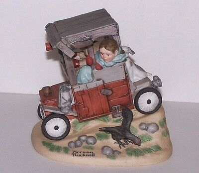 "Norman Rockwell Figurine by Danbury Mint ""Soap Box Racer""  Excellent"