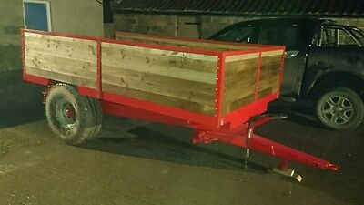 farm tractor tipping trailer horse muck