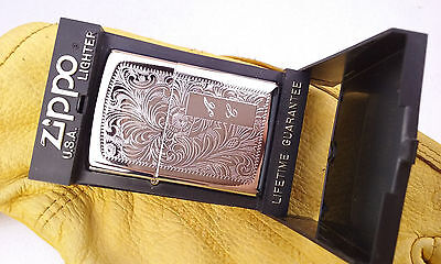 Zippo Venetian A C never fired with box top condition
