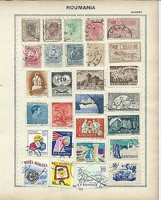 Romania stamps. 4 pages of unchecked mainly used. (Y433)