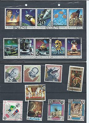 Yemen stamps. Mainly CTO/used lot. (X599)