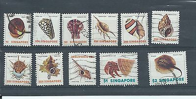 Singapore stamps. 1977 Shells etc to $2 used. (Y066)
