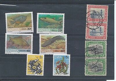 Namibia stamps. 1992 Freshwater Fish MNH plus a few SWA (Y279)