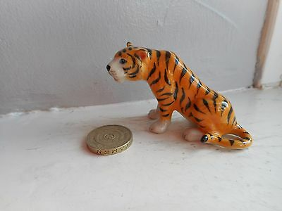 Tiger - Beautiful - Detailed  Miniature Ceramic/pottery Tiger - Sitting Down