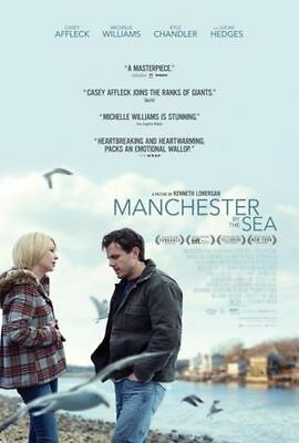 MANCHESTER BY THE SEA 27 x 40 D/S Original Movie Poster CASEY AFFLECK