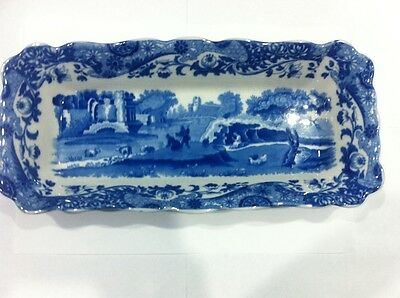 Extremely Rare Vintage Spode Blue Italian 30cm cherry dish 1920's early 1930's