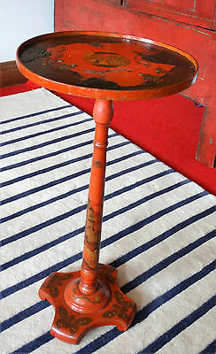 Stunning Small Red Antique Oriental Side Table