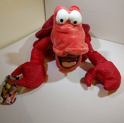 The Little Mermaid Sebastian the crab large cuddly plush toy, Disney, exclusive