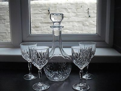decanter and 4 sherry/small wine glasses