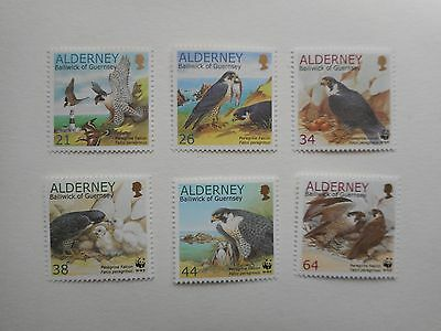Alderney 2000 Endangered Species Peregrine Falcon MNH set