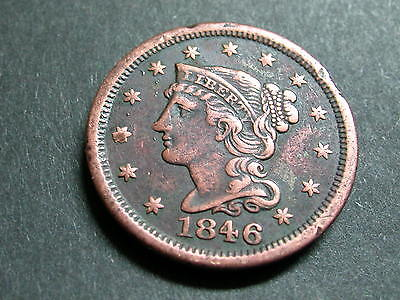 1846 US Large Cent - VF - Small Date