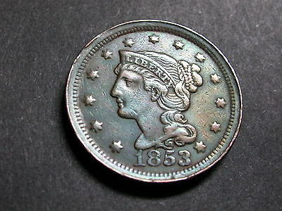 1853 US Large Cent - VF